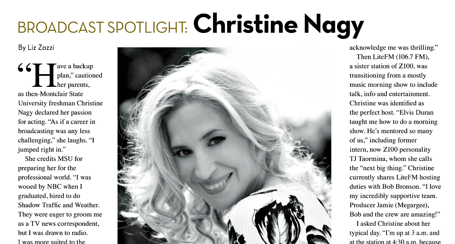 Broadcast Spotlight: Christine Nagy