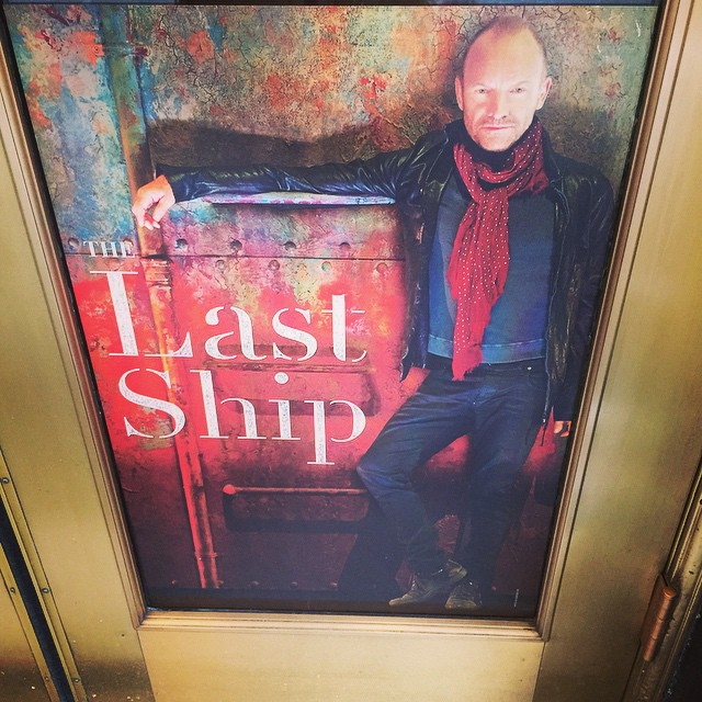 Can't wait to see #Sting in #TheLastShip today on #Broadway