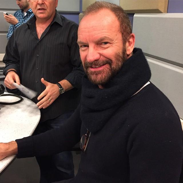 Oh Hi #Sting in our studio at @1067litefm ☺️??