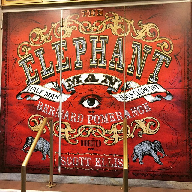 Theatre time! Thanks to my amazing partner #AJCiccotelli. ❤️?? #Elephantman #BradleyCooper #Broadway